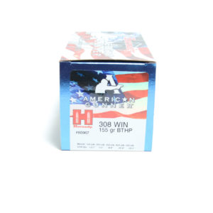 Hornady Ammo 308 Win 155 Grain Hollow Point Boat Tail American Gunner (50)