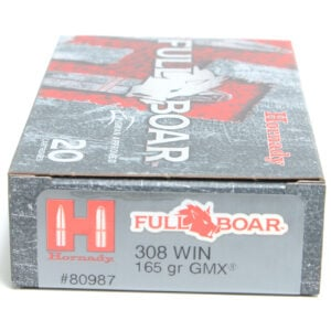 Hornady Ammo 308 Win 165 Grain GMX (MonoFlex) Full Boar (20) 10/Cs