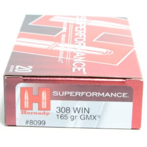 Hornady Ammo 308 Win 165 Grain GMX (MonoFlex) Superformance (20)