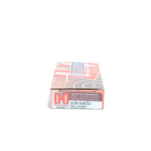 Hornady Ammo 5.56 Nato 75 Grain Hollow Point Boat Tail Match Superformance