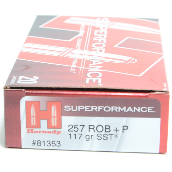 Hornady Ammo 257 Rob +P117 Grain SST (Super Shock Tip) Superformance (20)