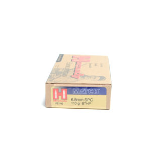 Hornady Ammo 6.8mm Rem SPC 110 Grain Hollow Point Boat Tail With Cannelure