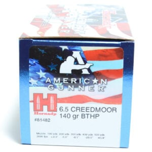 Hornady Ammo 6.5 Creedmoor 140 Grain Hollow Point Boat Tail American Gunner (50)