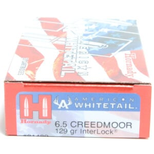 Hornady Ammo 6.5 Creedmoor 129 Grain Interlock American Whitetail (20)