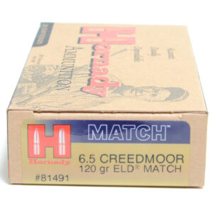Hornady Ammo 6.5 Creedmoor 120 Grain ELD-M (Extremly Low Drag) (20)