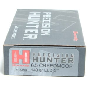 Hornady Ammo 6.5 Creedmoor 143 Grain ELD-X (Extremly Low Drag) Hunting (20)