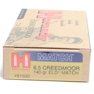 Hornady Ammo 6.5 Creedmoor 140 Grain ELD-M (Extremly Low Drag) Match (20)