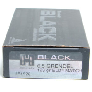Hornady Ammo 6.5 Grainendel 123 Grain ELD-M (Extremly Low Drag) Match Black (20)