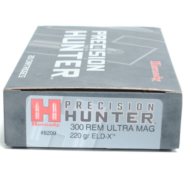 Hornady Ammo 300 Rem Ultra Magnum 220 Grain ELD-X (Extremly Low Drag) Hunting (20)