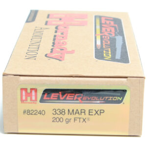 Hornady Ammo 338 Marlin Exp 200 Grain FTX (Flex Tip) LEVERevolution (20)