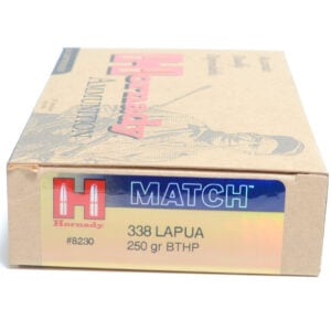Hornady Ammo 338 Lapua 250 Grain Hollow Point Boat Tail Match (20)