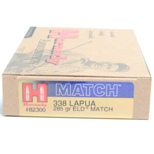 Hornady Ammo 338 Lapua 285 Grain ELD-M (Extremly Low Drag) Match (20)