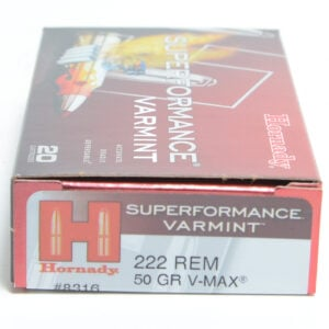 Hornady Ammo 222 Rem 50 Grain V-MAX Superformance (20)