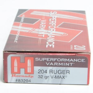 Hornady Ammo 204 Ruger 32 Grain V-MAX Superformance (20)