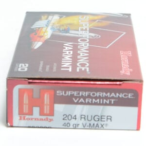 Hornady Ammo 204 Ruger 40 Grain V-MAX Superformance (20)