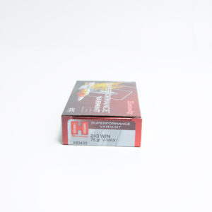 Hornady Ammo 243 Win 75 Grain V-MAX Superformance (20) 10/Cs