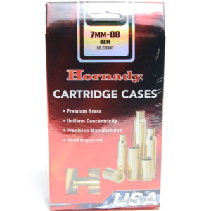 Hornady Brass Unprimed 7mm-08 Rem (50) 5/Cs