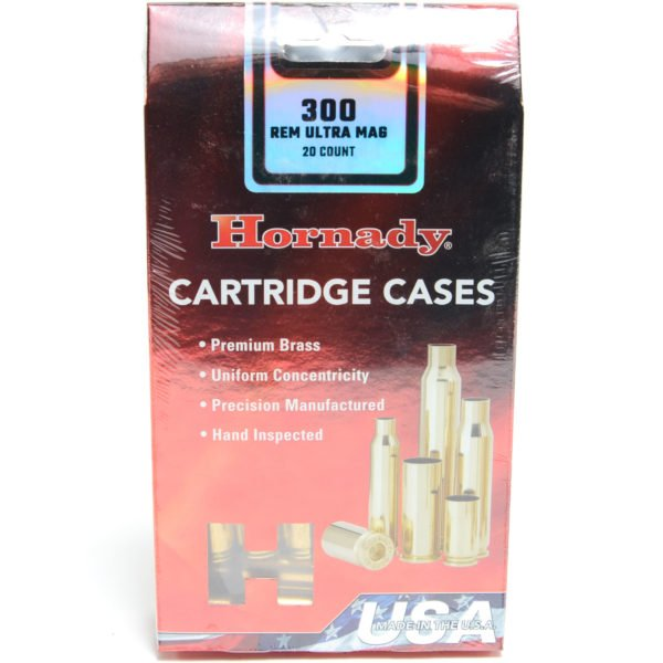 Hornady Brass Unprimed 300 Rem Ultra Mag (20) 5/Cs