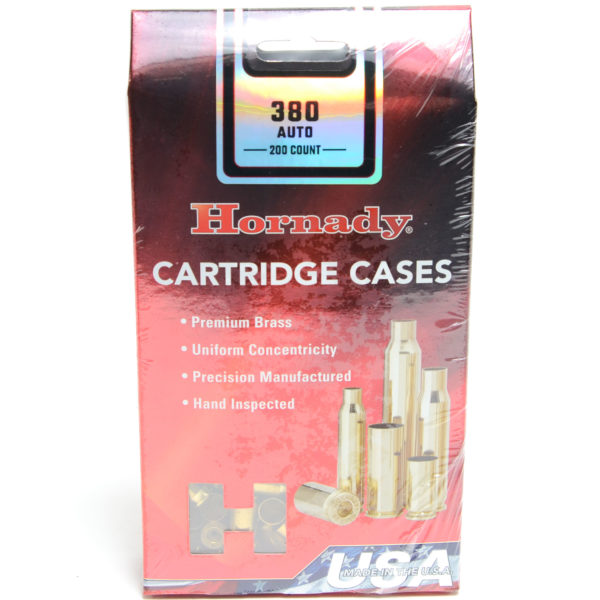 Hornady Brass Unprimed 380 Auto (200) 5/Cs