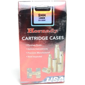 Hornady Brass Unprimed 9mm Luger (200) 5/Cs