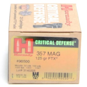 Hornady Ammo 357 Mag 125 Grain FTX (Flex Tip) Critical Defense (25)