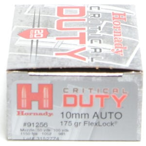 Hornady Ammo 10mm 175 Grain FTX (Flex Lock) Critical Duty (20)