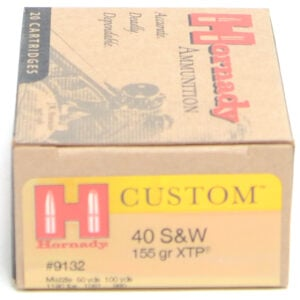 Hornady Ammo 40 S&W 155 Grain XTP (eXtreme Terminal Performance) (20)