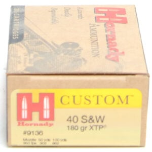 Hornady Ammo 40 S&W 180 Grain XTP (eXtreme Terminal Performance) (20)
