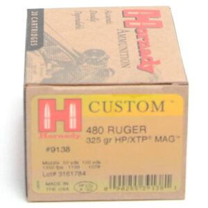 Hornady Ammo 480 Ruger 325 Grain XTP MAG (eXtreme Terminal Performance) (20)