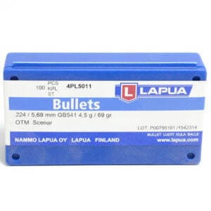 Lapua .224 / 22 69 Grain Hollow Point Boat Tail (100)