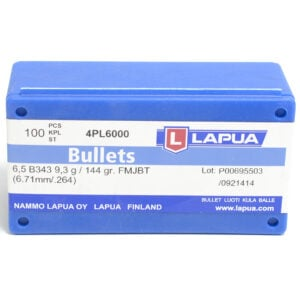 Lapua .264 / 6.5mm 144 Grain Full Metal Jacket Boat Tail (100)