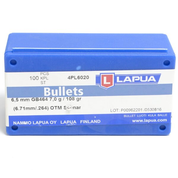 Lapua .264 / 6.5mm 108 Grain Hollow Point Boat Tail (100)