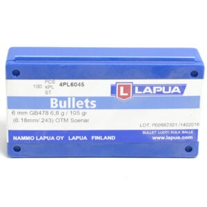 Lapua .243 / 6mm 105 Grain Hollow Point Boat Tail Scenar (100)