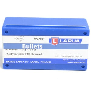 Lapua .308 / 30 175 Grain Hollow Point Boat Tail Scenar-L (100)