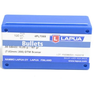 Lapua .308 / 30 167 Grain Hollow Point Boat Tail Scenar (100)