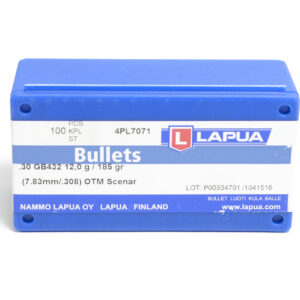 Lapua .308 / 30 185 Grain Hollow Point Boat Tail (100)