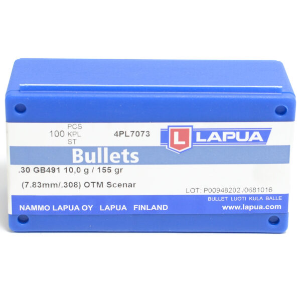Lapua .308 / 30 155 Grain Hollow Point Boat Tail Scenar (100)