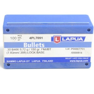 Lapua .308 / 30 150 Grain Full Metal Jacket Boat Tail Lock Base (100)