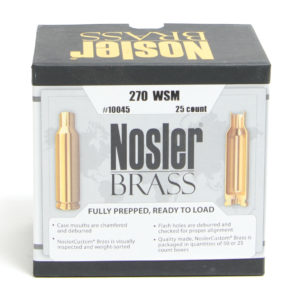 Nosler Unprimed Brass 270 WSM(25)