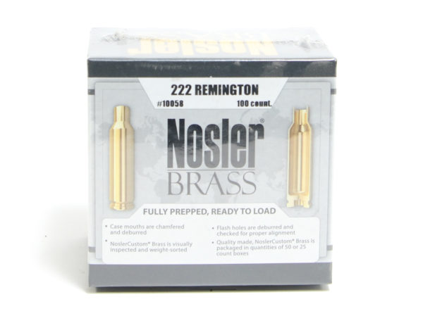 Nosler Unprimed Brass 222 Rem (100)