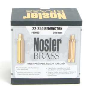 Nosler Unprimed Brass 22-250 Rem (50)