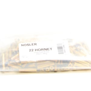 Nosler Unprimed Brass 22 Hornet (250) Unprocessed