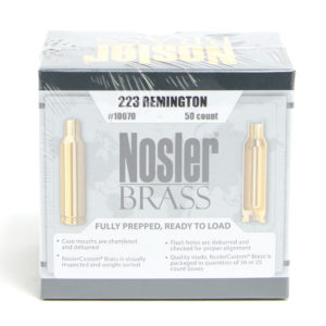 Nosler Unprimed Brass 223 Rem (50)