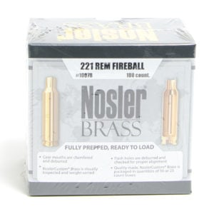 Nosler Unprimed Brass 221 Rem Fireball (100)
