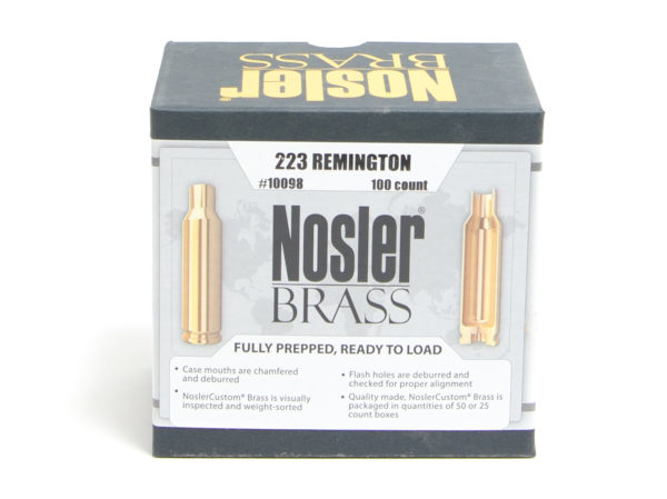 Nosler Unprimed Brass 223 Rem (100)