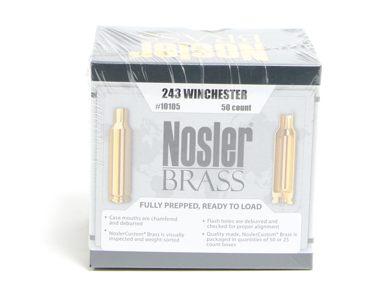 Nosler Unprimed Brass 243 Win (50)