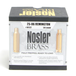 Nosler Unprimed Brass 25-06 Remington (50)