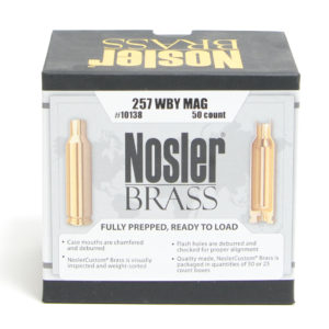 Nosler Unprimed Brass 257 Weatherby (50)