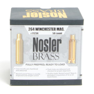Nosler Unprimed Brass 264 Win Magnum (50)