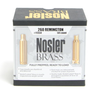 Nosler Unprimed Brass 260 Rem (50)